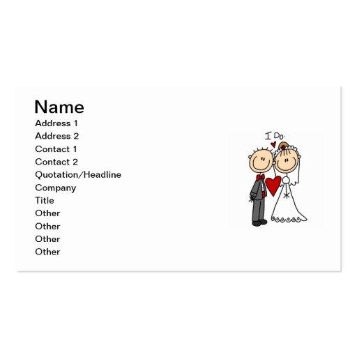 Los pares del boda hago las camisetas y los regalo plantilla de tarjeta de negocio