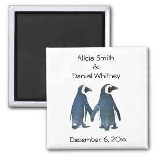 Los pares del pingüino ahorran el imán de la fecha