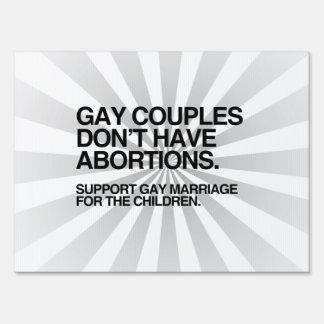 LOS PARES GAY NO TIENEN ABORTOS CARTELES