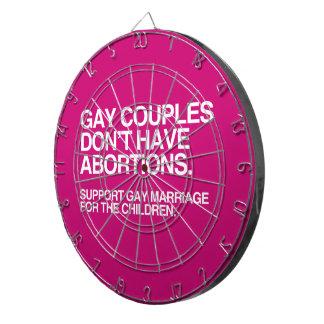 LOS PARES GAY NO TIENEN ABORTOS - .PNG TABLA DARDOS