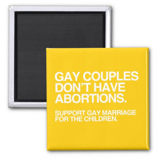 LOS PARES GAY NO TIENEN ABORTOS - .PNG IMAN DE FRIGORÍFICO
