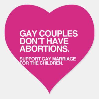 LOS PARES GAY NO TIENEN ABORTOS - .PNG PEGATINA CORAZON PERSONALIZADAS