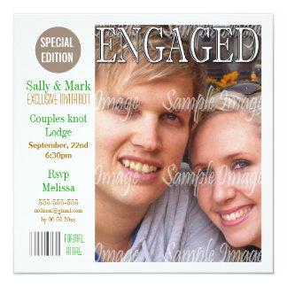 Los pares marrones verdes del compromiso comunicado personal