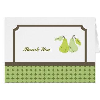 Los pares perfectos le agradecen cardar tarjeta pequeña