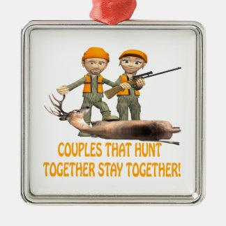 Los pares que cazan juntos permanecen juntos ornamentos para reyes magos