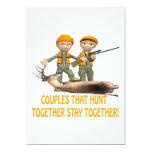Los pares que cazan juntos permanecen juntos comunicados personalizados