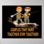Los pares que cazan juntos permanecen juntos impresiones