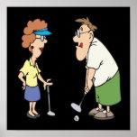 Los pares que Golf juntos permanecen juntos Posters