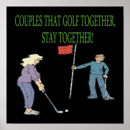 Los pares que Golf juntos permanecen juntos Impresiones