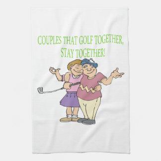 Los pares que Golf juntos permanecen juntos Toallas De Cocina
