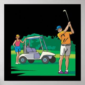 Los pares que Golf juntos permanecen juntos Póster