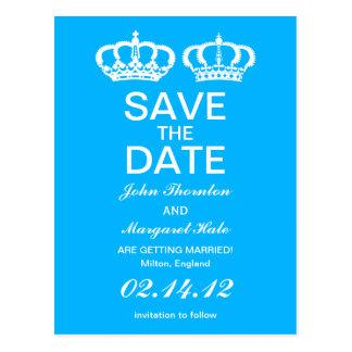 Los pares reales azules ahorran la fecha postal