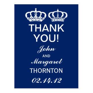 Los pares reales azules le agradecen tarjeta postal