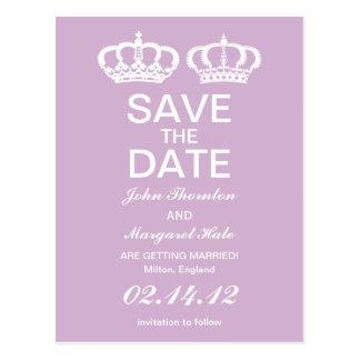 Los pares reales de la lila ahorran la fecha postales