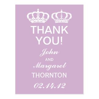 Los pares reales de la lila le agradecen tarjeta postal