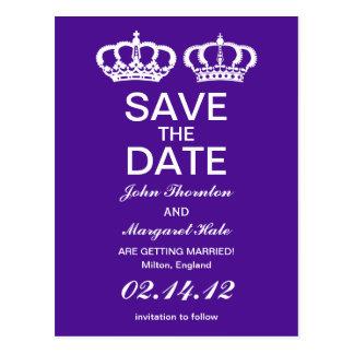 Los pares reales púrpuras ahorran la fecha postal