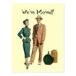 Los pares retros del vintage de la postal anuncian