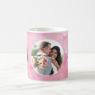 Los pares rosados de los corazones añaden su taza clásica