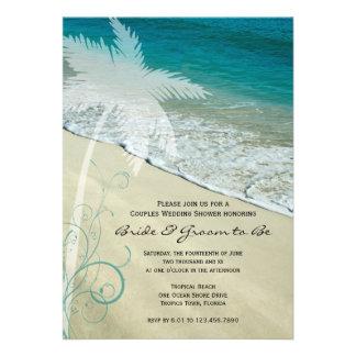 Los pares tropicales de la playa que casan la duch comunicado