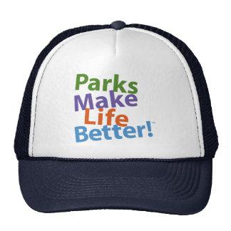 ¡Los parques hacen vida mejor! Logotipo oficial Gorras De Camionero