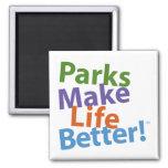 ¡Los parques hacen vida mejor! Logotipo oficial Imán De Frigorífico