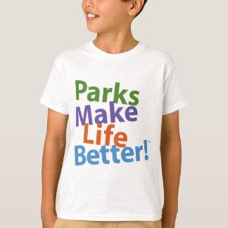¡Los parques hacen vida mejor! Logotipo oficial Playeras