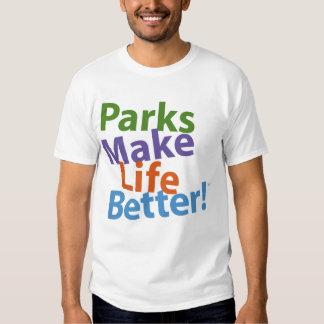 ¡Los parques hacen vida mejor! Logotipo oficial Remeras