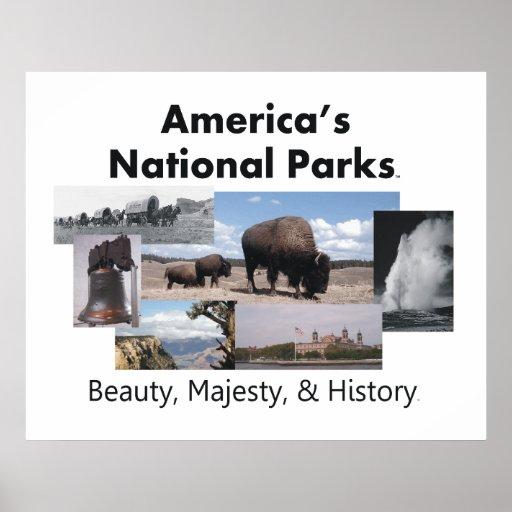 Los parques nacionales de América de la CAMISETA Posters