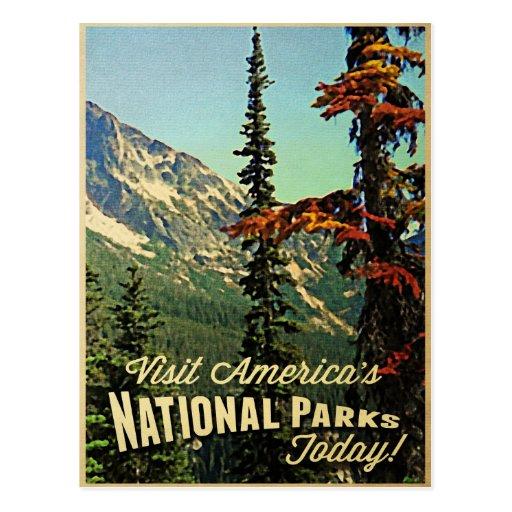Los parques nacionales de América Postales