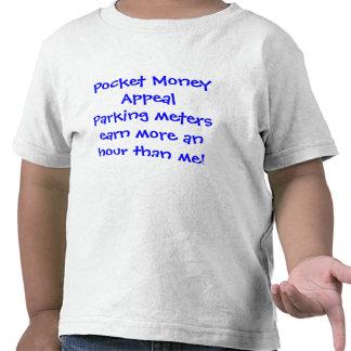 Los parquímetros de la súplica del dinero suelto camiseta