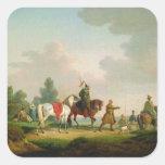 Los partidarios en 1812, 1820 calcomanías cuadradas personalizadas