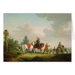 Los partidarios en 1812, 1820 tarjeta de felicitación