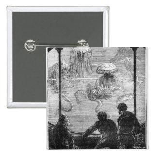 Los pasajeros del nautilus pin cuadrada 5 cm