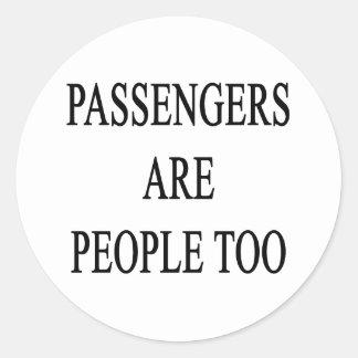 Los pasajeros son pegatina del lema del viaje de
