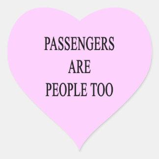 Los pasajeros son pegatina demasiado sarcástico