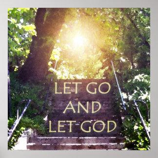Los pasos dejaron van dejar el poster de dios