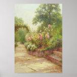 Los pasos del jardín poster