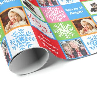 Los pasteles del copo de nieve de la alegría del papel de regalo