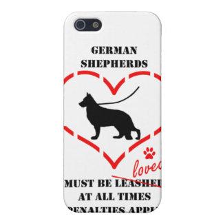 Los pastores alemanes deben ser amados iPhone 5 protectores