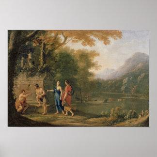Los pastores del árcade póster