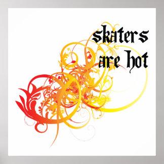 Los patinadores son calientes impresiones