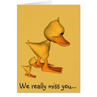 Los patos amarillos le faltamos tarjeta de felicitación