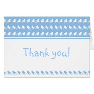 los patos azules en fiesta de bienvenida al bebé tarjeta de felicitación