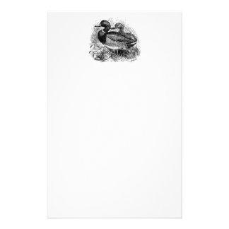Los patos salvajes del pato silvestre del vintage papelería personalizada