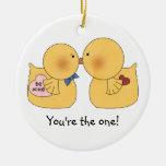 Los patos usted es el un ornamento de la tarjeta adorno de navidad
