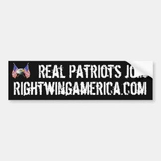 Los patriotas reales se unen a Rightwingamerica.co Pegatina De Parachoque