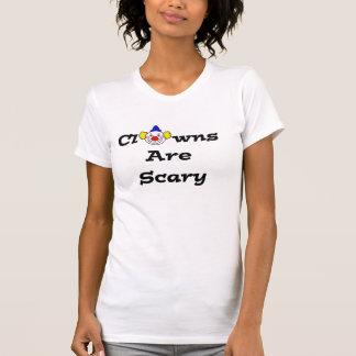 Los payasos son camiseta asustadiza
