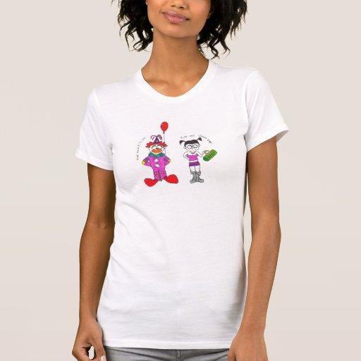 Los payasos son espeluznantes camiseta
