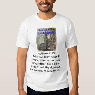 Los pecadores de Chruch se arrepienten Camisas