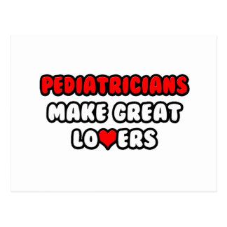 Los pediatras hacen a grandes amantes tarjetas postales